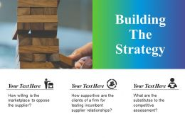 Building The Strategy Example Of Ppt Presentation