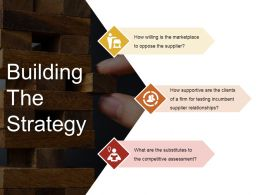 Building The Strategy Sample Of Ppt Presentation