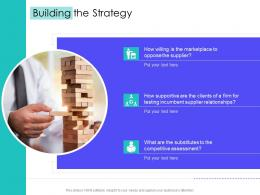 Building The Strategy Supply Chain Management Solutions Ppt Designs