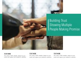 Building Trust Showing Multiple People Making Promise