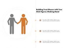 Building Trust Shown With Two Stick Figures Shaking Hand