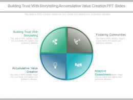 Building Trust With Storytelling Accumulative Value Creation Ppt Slides