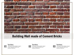 Building Wall Made Of Cement Bricks
