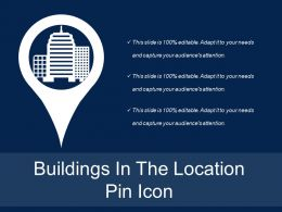 Buildings In The Location Pin Icon