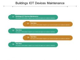 Buildings IOT Devices Maintenance Ppt Powerpoint Presentation Layouts Icons Cpb