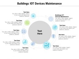 Buildings IOT Devices Maintenance Ppt Powerpoint Presentation Visual Aids Outline Cpb