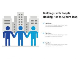 Buildings With People Holding Hands Culture Icon