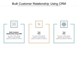 Built Customer Relationship Using CRM Ppt Powerpoint Presentation File Cpb