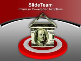Built Your House With Global Money PowerPoint Templates PPT Themes And Graphics 0513
