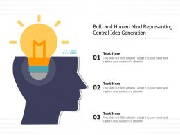 Bulb And Human Mind Representing Central Idea Generation