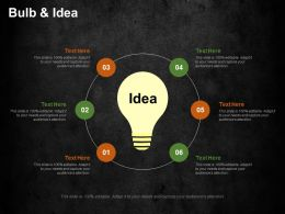Bulb And Idea Cost Optimization Strategies Ppt Summary Graphics Download