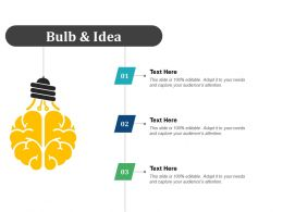 Bulb And Idea Cs Lifecycle Ppt Infographic Template Files