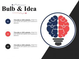 Bulb And Idea Expertise Matrix Ppt Infographic Template Show