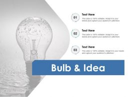 Bulb And Idea Innovation F713 Ppt Powerpoint Presentation Outline Maker