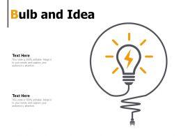 Bulb And Idea Innovation K18 Ppt Powerpoint Presentation Show Slide