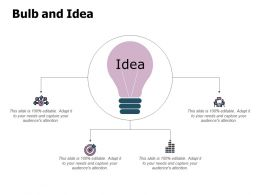 Bulb And Idea Innovation L374 Ppt Powerpoint Presentation Model