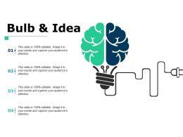 Bulb And Idea Marketing Ppt Powerpoint Presentation File Model