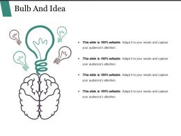 Bulb And Idea Powerpoint Presentation Examples