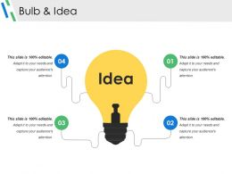 Bulb And Idea Powerpoint Slide Presentation Guidelines