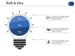 Bulb And Idea Ppt File Icon