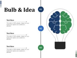 Bulb And Idea Ppt Infographics Mockup