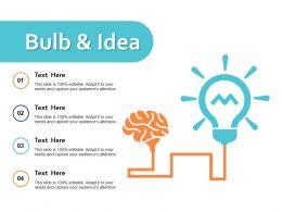 Bulb And Idea Ppt Powerpoint Presentation Diagram Templates