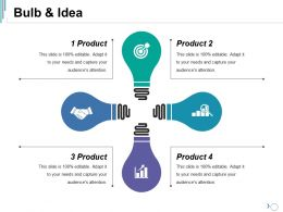 Bulb And Idea Ppt Summary Mockup