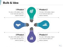 Bulb And Idea Ppt Summary Mockup
