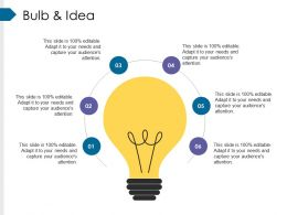 Bulb And Idea Presentation Diagrams