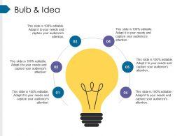 Bulb And Idea Presentation Diagrams