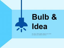 Bulb And Idea Technology Ppt Summary Background Designs