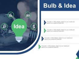 Bulb And Idea With Creative Innovation Idea Ppt Slides