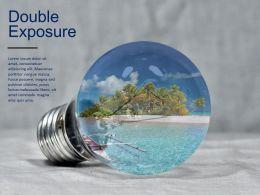 Bulb Beach Double Exposure Creative Visual Effect