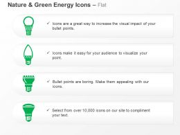 Bulb Cfl Green Energy Sources Ppt Icons Graphics