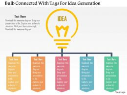 Bulb Connected With Tags For Idea Generation Flat Powerpoint Design