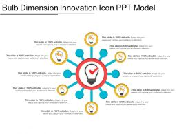 Bulb Dimension Innovation Icon Ppt Model
