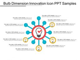 Bulb Dimension Innovation Icon Ppt Samples