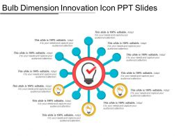 Bulb Dimension Innovation Icon Ppt Slides