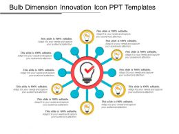 Bulb Dimension Innovation Icon Ppt Templates