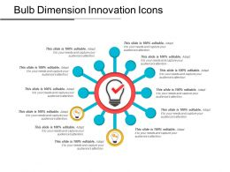 Bulb Dimension Innovation Icons