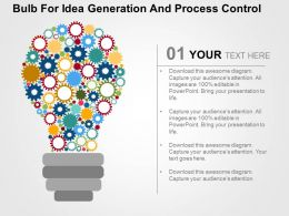 Bulb For Idea Generation And Process Control Flat Powerpoint Design
