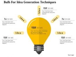 bulb_for_idea_generation_techniques_flat_powerpoint_design_Slide01