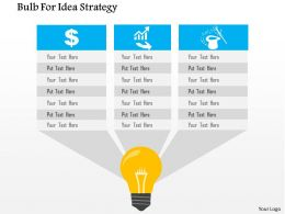 Bulb For Idea Strategy Flat Powerpoint Design