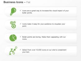 Bulb Gears Pie Chart Growth Bar Graph Ppt Icons Graphics