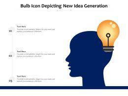 Bulb Icon Depicting New Idea Generation