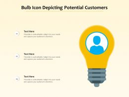 Bulb Icon Depicting Potential Customers