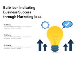 Bulb Icon Indicating Business Success Through Marketing Idea