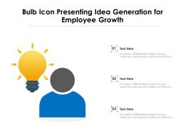 Bulb Icon Presenting Idea Generation For Employee Growth