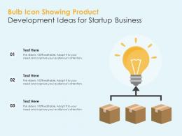 Bulb Icon Showing Product Development Ideas For Startup Business