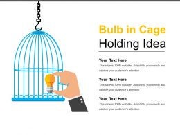 Bulb In Cage Holding Idea Sample Of Ppt
